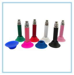 Ego Metal Stand Battery NZ - Newest Electronic Cigarette Battery Display Stand Silicone Suckers Rubber Caps Pen Holder Stand E Cigarette Metal Stands for Battery Ego Kit