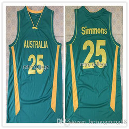 25 Simmons Ben Team Australia high quality Men s Embroidery Stitched  Basketball Jersey Custom any name and number 43dd202b7