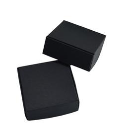 Craft Packs Australia - 5.8*5.8*3.2cm Black Business Handmade Soap Package Box Gift DIY Kraft Paper Packing Box 50pcs lot Packaging Craft Paper Packaging Boxes