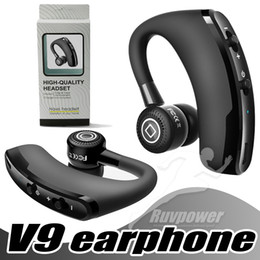 Discount phone ears - V9 Business Bluetooth Headset Wireless Earphone Wireless Handsfree Headphones Car Bluetooth V4.1 Phone Handsfree MIC Mus