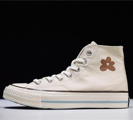 Star Canvas Shoe For Men Australia - 19ss Men designers shoes Golf Le Fleur x Chuck 70 Hi\\'Burlap\\' one star canvas Sneaker shoes Leather casual Shoes for man dolce