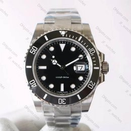Wholesale Luxury men s automatic watch mm ceramic bezel luminous diving sports watch waterproof L steel strap NOOvB9
