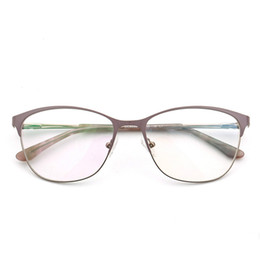 d93a50e5fe98 Metal Women Cat Eye Optical Glasses Frame Clear Beautiful Fashion  Transparent Grade Armacao De Eyeglasses for Women