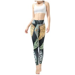 35329c21266890 Women Printed Leggings Yoga Pants Sports Tights Pants Fitness Running Sexy  Push Up Gym Wear Elastic Slim Workout Leggings