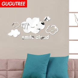 $enCountryForm.capitalKeyWord Australia - Decorate Home 3D cloud cartoon mirror art wall sticker decoration Decals mural painting Removable Decor Wallpaper G-370