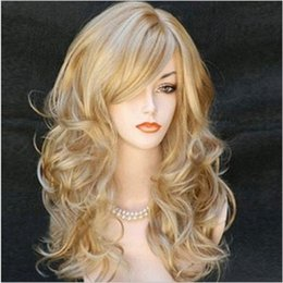 Celebrity Halloween Face Masks For Girls Australia - Long Curly Cosplay Wigs Headwear for Women Girls Halloween Mask Costumes Carnival Nightclub Bar Party Dress Decoration