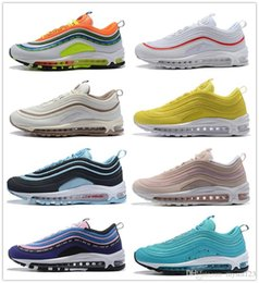 Green Plastic Army Men Canada - Yellow Steelers 97 x UNDEFEATED OG UNDFTD Running shoes 97s SE Triple white black South Beach Persian Violet Men women sports Sneakers 36-46