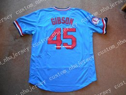82083cebead Cheap custom Bob Gibson  40 Blue PO Baseball Jersey TAG NEW Stitched  Customize any name number MEN WOMEN YOUTH Jerseys