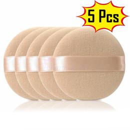$enCountryForm.capitalKeyWord Australia - 5PCS Reusable Cotton Round Sponge Makeup Puff Soft Facial Makeup Tool Foundation Sponge for BB CC Cream Hot