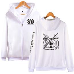 $enCountryForm.capitalKeyWord Australia - Aikooki Sword art online Zipper hoodie Boy Girl Japan Anime Hip Hop High Quality Hoodies Zipper men women Sweatshirt Clothes top