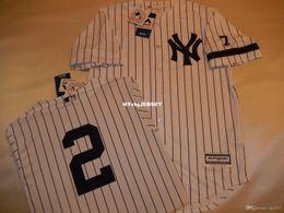$enCountryForm.capitalKeyWord Australia - Cheap custom New York #2 DEREK JETER 1995 Baseball Jersey W MANTLE #7 WHITE New Mens stitched jerseys Big And Tall SIZE XS-6XL For sale