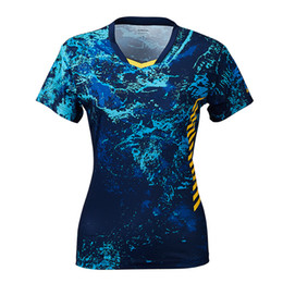 Sportswear T Shirt Badminton Australia - 2019 Original Women Sportswear Badminton Clothes Shirts V-Neck Breathable Tennis T-shirt For Female
