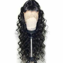 long 18 inch brazilian hair UK - 360 Lace Frontal Wave Human Hair Wigs 130% Density Brazilian Loose Wave Wig with Baby Hair for Black Women Natural Color 14 inch