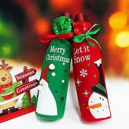 $enCountryForm.capitalKeyWord Australia - christmas wine bottle cover Christmas Decorations elf Santa Claus Snowman Wine Bag Red Bottle Bag Decoration Party