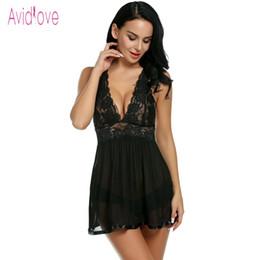 Avidlove Baby Doll Lingerie Sexy Hot Erotic Underwear Women Sexy Night Dress  Lace Sleepwear Nightgown Sex Costume Porn Nighty D18120802 9ca41b092