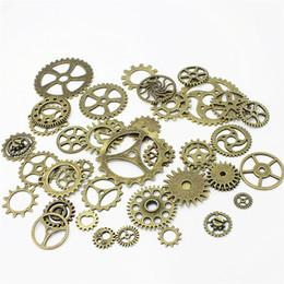 Gear Fit Bracelet Australia - Sweet Bell Wholesale Mix 200pcs Vintage Charms Gear Pendant Antique bronze Fit Bracelets Necklace DIY Metal Jewelry Making D0055