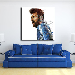 $enCountryForm.capitalKeyWord UK - Lionel Messi Argentin Illustration By Yann Dalon Art Canvas Poster Painting Wall Picture Print Home Bedroom Decoration Artwork