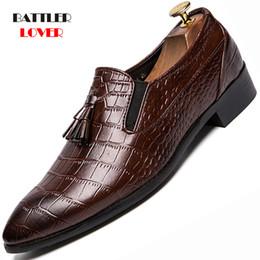 Leather Shoes Brogues Australia - Men Genuine Leather Dress Shoes Design Brand Shoes Classic Tassels Brogue Man Footwear Formal Bullock Big Size 38-45