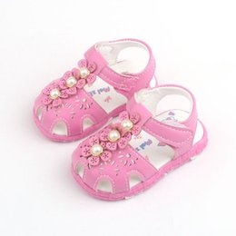 sandals for flower girls Australia - kids girls sandals shoes fashion baby flower sandals shoes for children leather flat with shoe kids girls slides