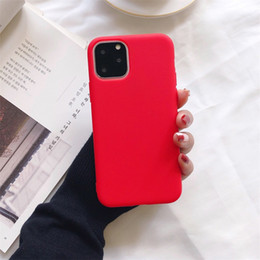 Wholesale iphone 11 cases resale online - Ultra Thin Cheap Candy Colors Phone Silicone Case For iphone Mini Pro Max XS MAX XR X S plus