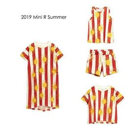 $enCountryForm.capitalKeyWord Australia - Kids 2019 Mini R Brand Summer Boys Girls Stripe Sun Print Short Sleeve T Shirts Baby Child Cotton Tops Tees Clothes J190529