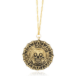 $enCountryForm.capitalKeyWord Australia - Caribbean Pirate Necklace Aztec Coin Medallion Pendant Necklace Fashion Designer Necklaces Jewelry for Men Gift Vintage Gold
