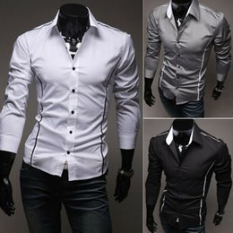 cheap mens shirts xl Canada - cheap shirts Mens Formal Shirt Long Sleeve Dress Business Shirts Regular Fit in stock good quality