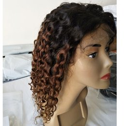 Wig Deep Curly Australia - Deep Curly 130% 1b 30 Lace Front Human Hair Wigs For Women Full Lace Wigs With Baby Hair Pre Plucked Brazilian Remy Wig