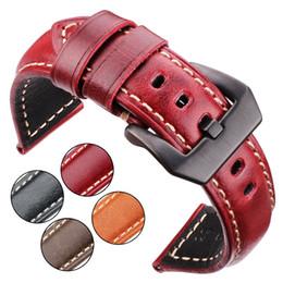 $enCountryForm.capitalKeyWord Australia - Watch Accessories Cowhide Watchband 20mm 22mm 24mm 26mm Women Men Genuine Leather Wach Band Strap Steel Buckle For Panerai