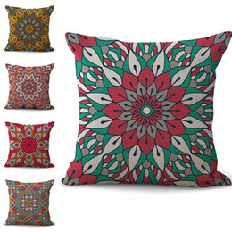 $enCountryForm.capitalKeyWord Australia - Indian Mandala Flower Pillow Case Cushion cover linen cotton Throw Square Pillowcase Cover Drop Ship 300800