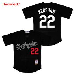 jerseys throwbacks 2019 - Throwback Jersey Men's Los Angeles Jersey Kershaw Movie Baseball Jerseys Shirt Stiched Size S-3XL Free Shipping dis