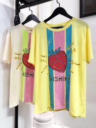 Strawberry Tees Canada - 2019 womens lady strawberry T-Shirt Women Fashion Casual Short Sleeve Tops Tees T Shirts