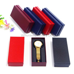 wholesale boxes packaging NZ - Free Express 100pieces Multi-Colored Paper Watch Case Watch Packaging Box Watch Holder Jewelry Packing Gift Box for Organizer