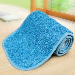 pad floor Canada - PREUP 3 Colors Replacement Microfiber Spray Mop Head Washable Floor Cleaning Cloth Household Cleaning Mop Pads Drop Shipping