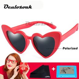 $enCountryForm.capitalKeyWord Australia - Tr90 Kids Polarized Sunglasses Children Heart Sun Glasses Girls Boys Silicone Uv400 Child Mirror Baby Eyewear Gafas 2019