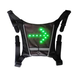 Discount backpack hangers - Led Vest Steering Light Riding Durable Backpack Pendant Waterproof Signal Portable Practical