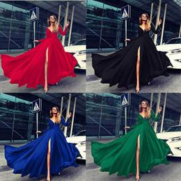 $enCountryForm.capitalKeyWord Australia - Hot selling new party women dresses spring long sleeve maxi dress woman skirts sexy deep V neck womens clothes night wear5