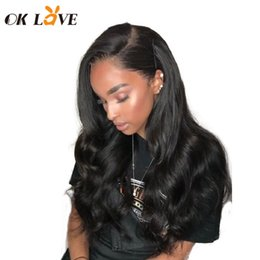 hottest wigs full lace Australia - Hot Selling Transparent Full Lace Human Hair Wigs With Baby Hair Body Wave Natural Peruvian Hair OKLove