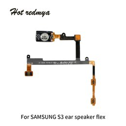 $enCountryForm.capitalKeyWord Australia - 50pcs Earpiece Flex Cable For Samsung Galaxy S3 i9300 Ear Speaker jack Audio Volume Button Sensor Assembly Phone Parts Free Shipping