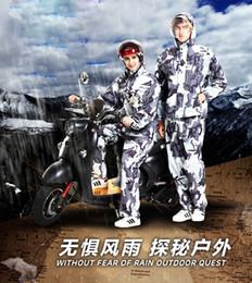 Body Suits Adults Australia - Camouflage raincoat rain pants suit adult walking split motorcycle men and women riding thick waterproof body raincoat #179433