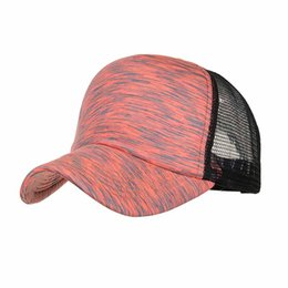 Baseball Cap Stripe UK - Summer New baseball cap Fashion Women Men Adjustable Colorful Stripes Baseball Cap Hat Mesh Shade Snapback Casual Caps