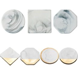 1pc Marble Pattern Ceramic Drink Coaster Coffee Cup Mat Tea Pad Dining Hard Table Placemats Decoration Accessories C18113001