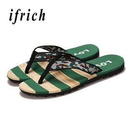 Slippers Summer Shoes Adult Australia - Summer Men Flip Flops Camouflage House Slippers Men Brand Male Shoes Adult Anti Slip Clogs Shoes Gray Green Shower Slippers