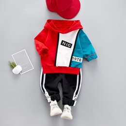$enCountryForm.capitalKeyWord NZ - Baby Boys Kids Clothes Autumn Casual Long Sleeve Mixed Color Letters Hoodie Sweatshirt Tops+Pants Trouser Costume Children Set