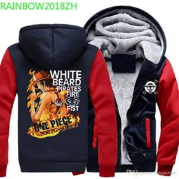 Wholesale monkey d luffy cosplay resale online - Men s Hoodies Anime ONE PIECE Portgas D Ace Monkey D Luffy Cosplay Zipper Jacket Thicken Hoodie Coat Clothing Casual wear