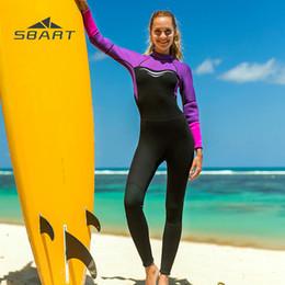 0d3f7a2289 SBART 2019 Women s Full body Diving Suit 3mm Long Sleeve Warm Winter Swimming  Surf Suit One Piece Snorkeling Suit Scuba Dive WetSuit