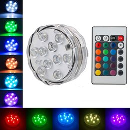 $enCountryForm.capitalKeyWord NZ - Led Submersible Light Remote Controlled RGB Battery Operated Underwater Night Lamp Outdoor Vase Bowl Garden wedding Party Decoration