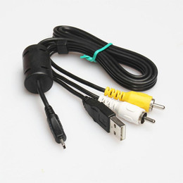 uc cable Canada - USB AV Cables for Nikon UC-E6 Coolpix l110 p100 s3000 s8000 s4000 Camera Cables Audio-Video 80cm 0.8m