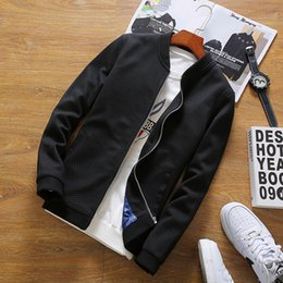 $enCountryForm.capitalKeyWord Australia - Autumn Mens Clothing Jacket Coat Men Blue Black Baseball Jacket Male Plus Size M-5XL Casual Windbreaker Bomber Jacket for Men
