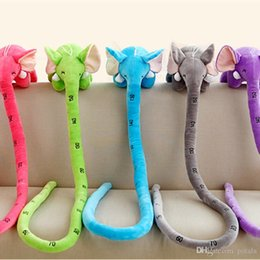 $enCountryForm.capitalKeyWord Canada - 120CM 150CM 160CM Funny Long Nose Elephant 48inch 60inch 65inch Stuffed animals With Measuring Cute Lovely Plush toys Kids Xmas Gifts Green